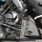 leather embossed petrol tank