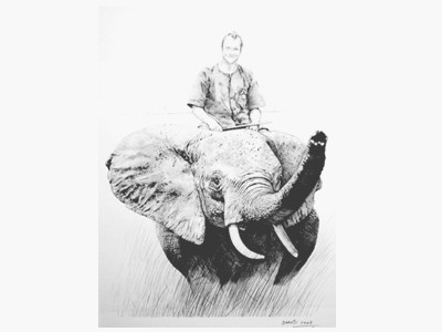 Lee on his Elephant