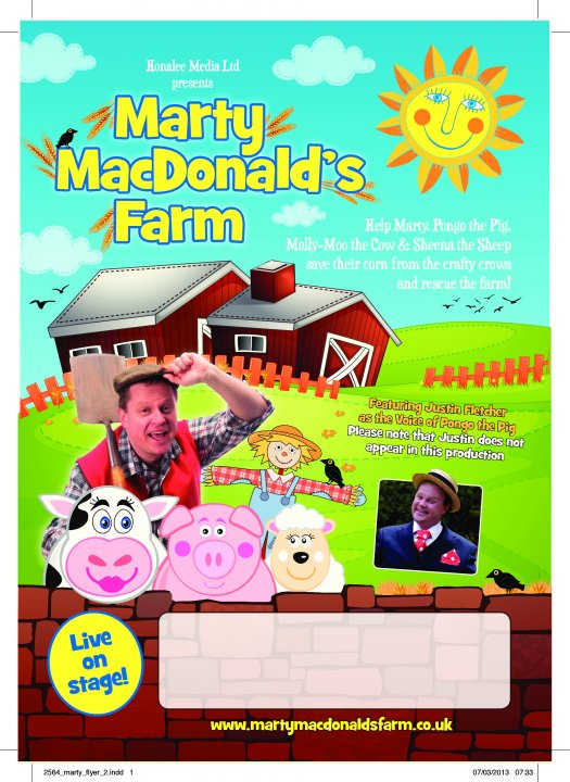 Marty MacDonalds Farm Monday 28th October - 2.30pm and 5.00pm