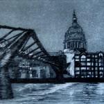 Millennium Bridge and St Paul's at Twilight