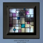 Mondrian stained glass window design