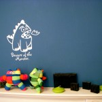 Monster wall stickers