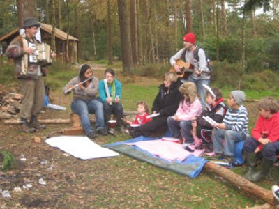 Music making at Haldon Hill