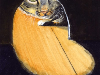 My old cat - acrylics