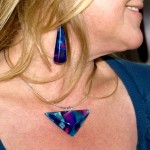Necklace and Pyramid Earrings 'Dolomiti'