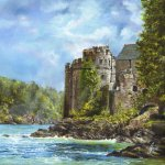 New for 2015 : Sun Breaking over Dartmouth Castle
