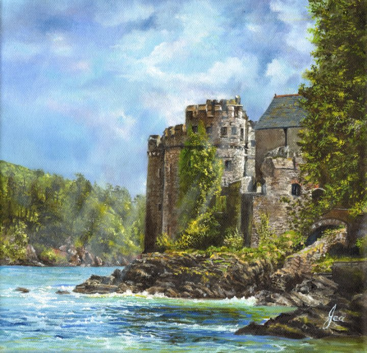 New for 2015 : Sun Breaking over Dartmouth Castle