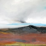 north west of fur tor / oil on board / 870mm x 300mm