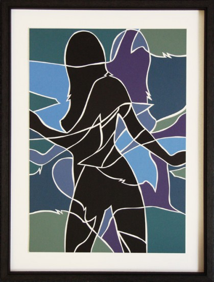 Nude Silhouette (card mosaic)