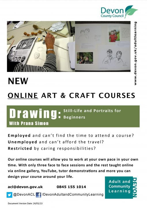 Online Course - Drawing: Still Life and Portraiture