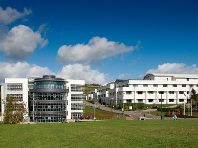 Our Vantage Point Campus with new University Centre (left)