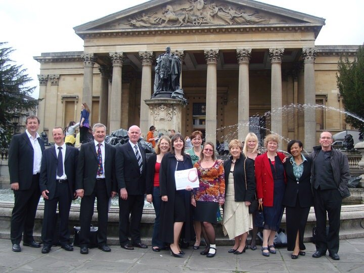 Outside Bristol Assembly when we were The Bishop's Place Singers