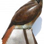 Patinated bronze female red kite