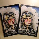 Pilot Lady Print 6¾