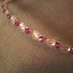 pink bridesmaid heart tiara