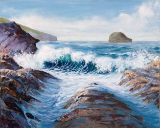 Pounding Waves, Trebarwith