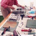 Printing @Contemporary Craft Fair, Bovey Tracey (Simon Williams)
