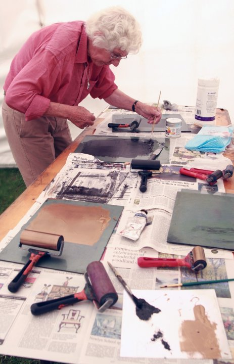 Printing @Contemporary Craft Fair, Bovey Tracey (Simon Williams)
