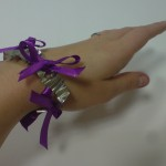 Purple Silk Ribbon and Pewter