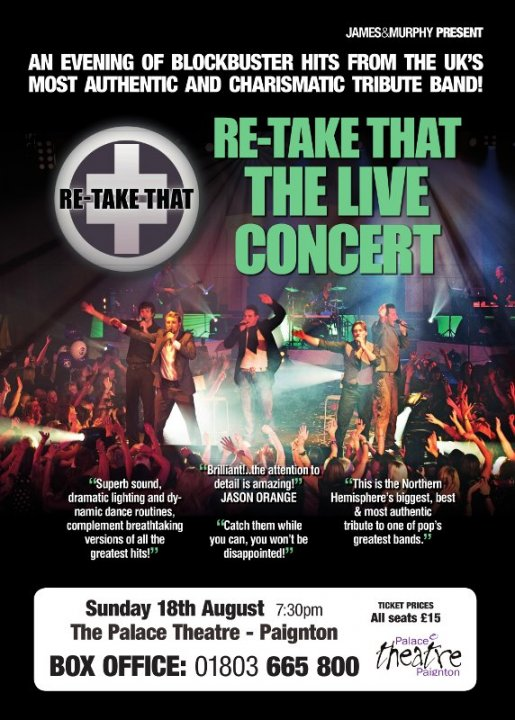 Re Take That...The Live Concert Sunday 18th August 2013 - 7.30pm
