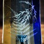 Rectangular Glass Dish Blues to Greens