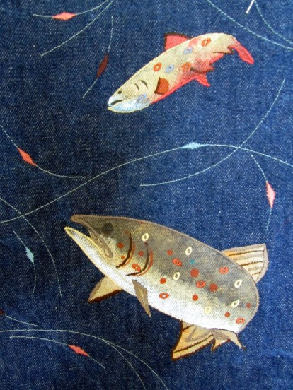 Ref:  Detail of Brook Trout Waistcoat