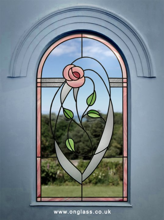 Rennie Mackintosh arched window