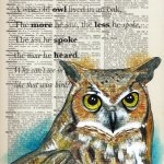Rhyme : a wise old owl...