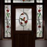 Robin red breast glass design