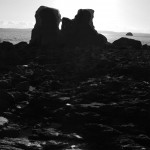 Rocks in the winter sun