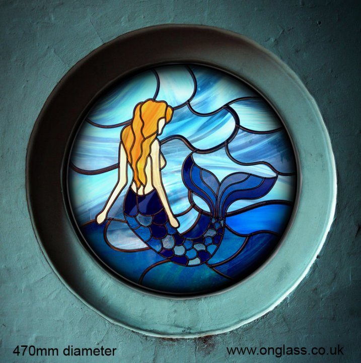Round Mermaid window