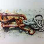 Shackle and Coir Rope