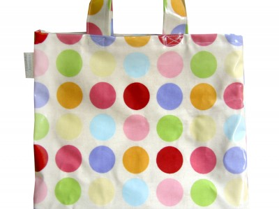 Spotty Oilcloth Shopper