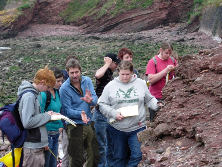 Students from the University of Plymouth in the Geopark