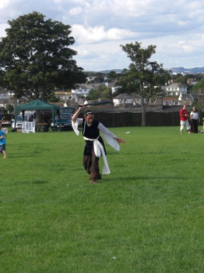 sword dancing at Brixham's Cowtown Carnival