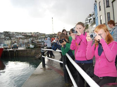 taking photos in Brixham