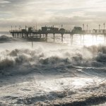 Teignmouth Pier during the storms