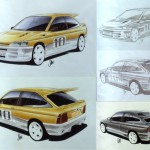 The design for the Ford Escort RS Cosworth - 1989