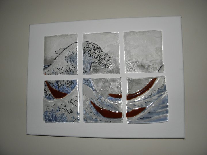 The Great Wave in glass