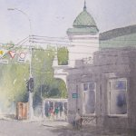 The street corner, Russia