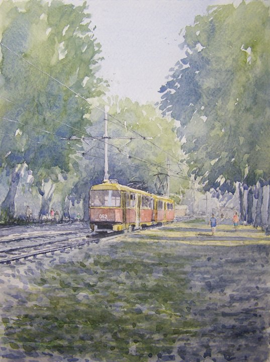 """ The tram home "" Krasnodar, Russia"