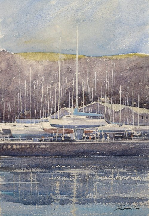 The yacht brokers yard