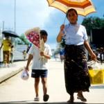 Travel. Bridge to Myanmar.
