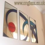 Triptych mirror.