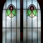 Victorian arched stained glass.