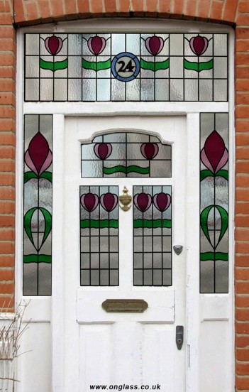 Victorian door and surround.