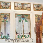 Victorian stained glass style.
