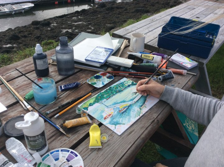 Watercolour Workshop at Noss Marina