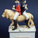 Wellington et Napoleon astride a Lion