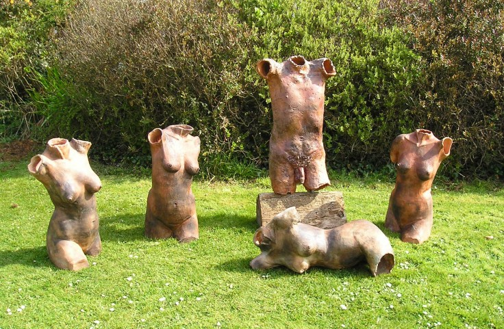 Wood fired life size torsos